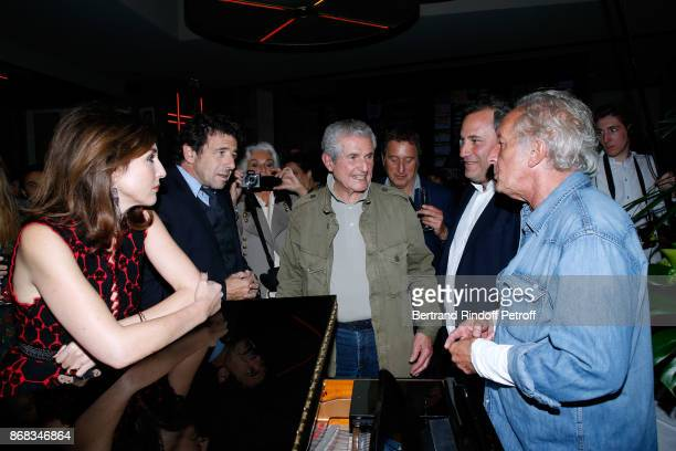 Elsa Zylberstein Patrick Bruel Claude Lelouch CEO of Moma Group Benjamin Patou and Didier Barbelivien who wrote a song especially for Claude Lelouch...