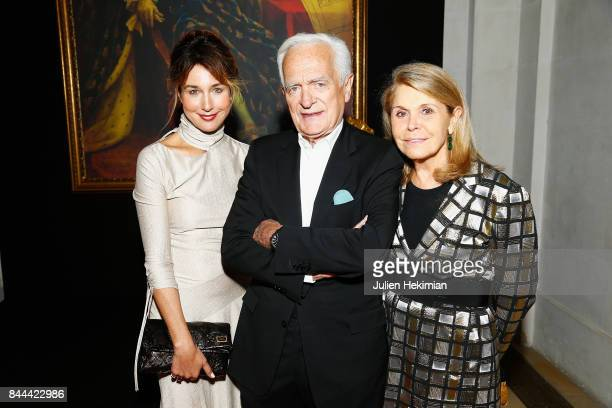 Elsa Zylberstein Philippe Labro and his wife Francoise Coulon attend the Baccarat Goldfinger party in paris on September 8 2017 in Paris France