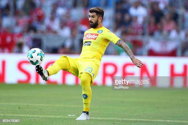 Elsed Hysaj of Napoli during the first Audi Cup football match between Atletico Madrid and SSC Napoli in the stadium in Munich southern Germany on...