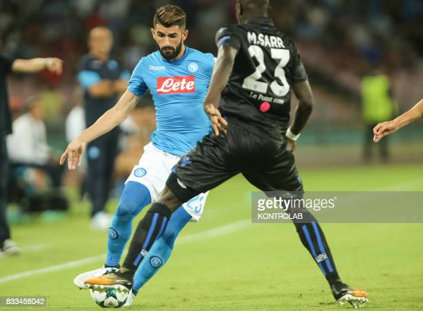 Elseid Gezim Hysaj Napoli defender during the match between SSC Napoli and OGC Nice for qualifying for the playoffs of the UEFA Champions League...