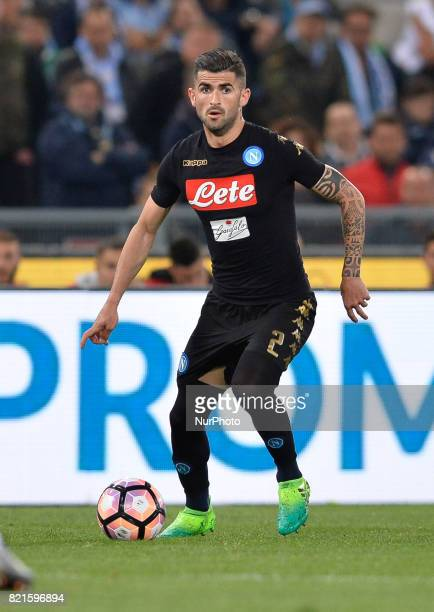 Elseid Hysaj during the Italian Serie A football match between SS Lazio and AC Napoli at the Olympic Stadium in Rome on april 09 2017