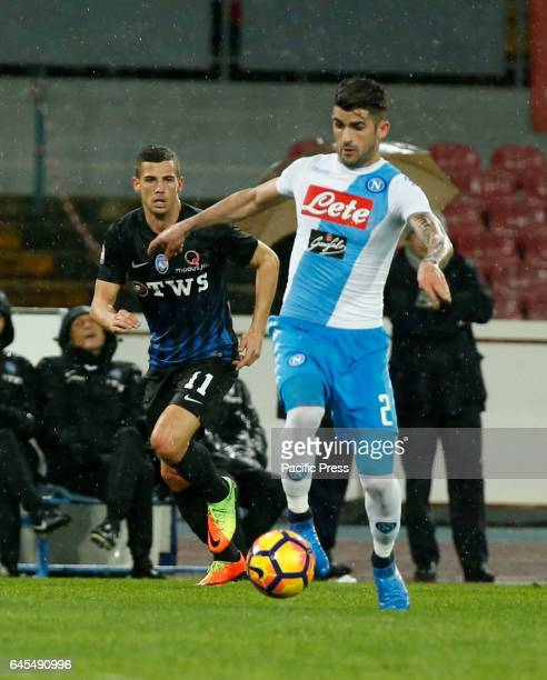 Elseid Hysaj during the Italian Serie A soccer match between SSC Napoli and Atalanta at the San Paolo stadium Atalanta beats Napoli at San Paolo...