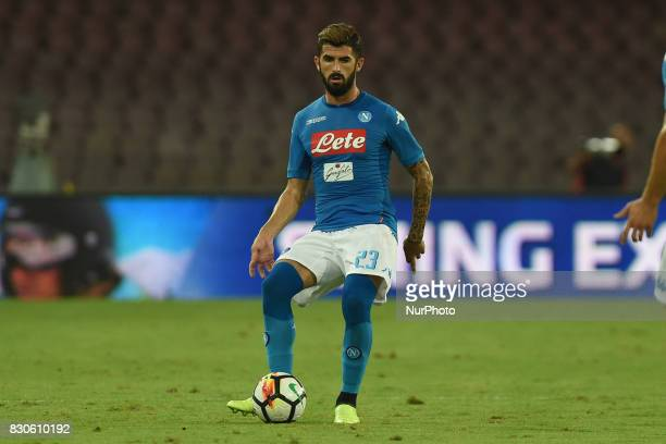Elseid Hysaj of SSC Napoli during the Preseason Frendly match between SSC Napoli and RCD Espanyol at Stadio San Paolo Naples Italy on 10 August 2017