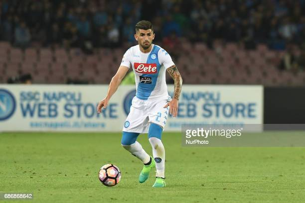 Elseid Hysaj of SSC Napoli during the Serie A TIM match between SSC Napoli and ACF Fiorentina at Stadio San Paolo Naples Italy on 20 May 2017