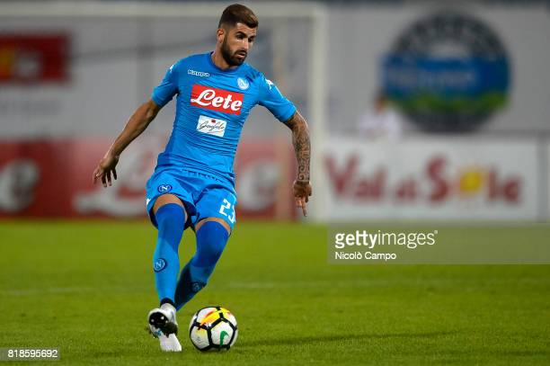 Elseid Hysaj of SSC Napoli in action during the preseason friendly football match between Carpi FC and SSC Napoli