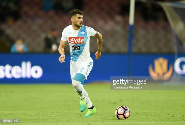 Elseid Hysaj of SSC Napoli in action during the Serie A match between SSC Napoli and ACF Fiorentina at Stadio San Paolo on May 20 2017 in Naples Italy