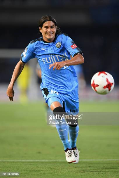 Elsinho of Kawasaki Frontale in action during the JLeague J1 match between Kawasaki Frontale and Kashima Antlers at Todoroki Stadium on August 13...