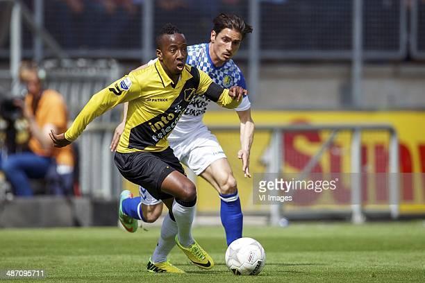 Elson Hooi of NAC Breda Daniel de Ridder of RKC Waalwijk during the Dutch Eredivisie match between NAC Breda and RKC Waalwijk at Rat Verlegh stadium...