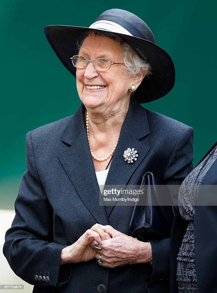 Elspeth Howe attends a Service of Thanksgiving for the life of Geoffrey Howe (Lord Howe of Aberavon) at St Margaret's Church, Westminster Abbey on May 3, 2016 in London, England. Conservative politician Geoffrey Howe who served as Chancellor of the Exchequer and Foreign Secretary during the 1980's died aged 88 on October 9, 2015.