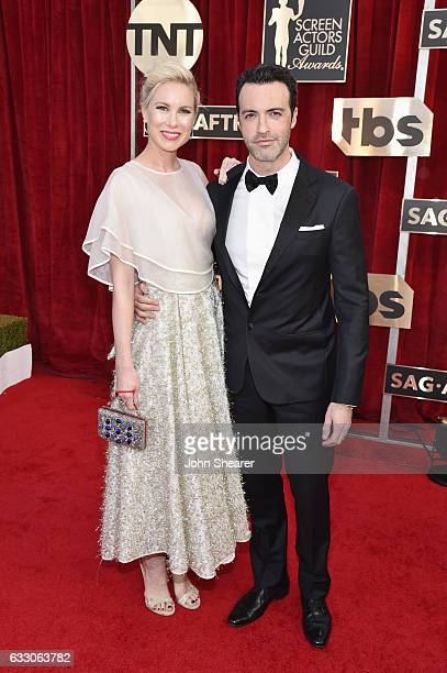 Elspeth Keller and actor Reid Scott attend The 23rd Annual Screen Actors Guild Awards at The Shrine Auditorium on January 29 2017 in Los Angeles...