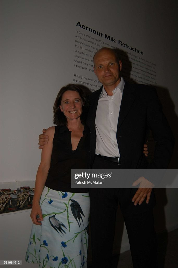 Elste Debruin and Dirik Tolmin attend New Museum Hosts Opening Reception for Aernout Mik's Refraction Rhizome Artbase 101 at New Museum Of...