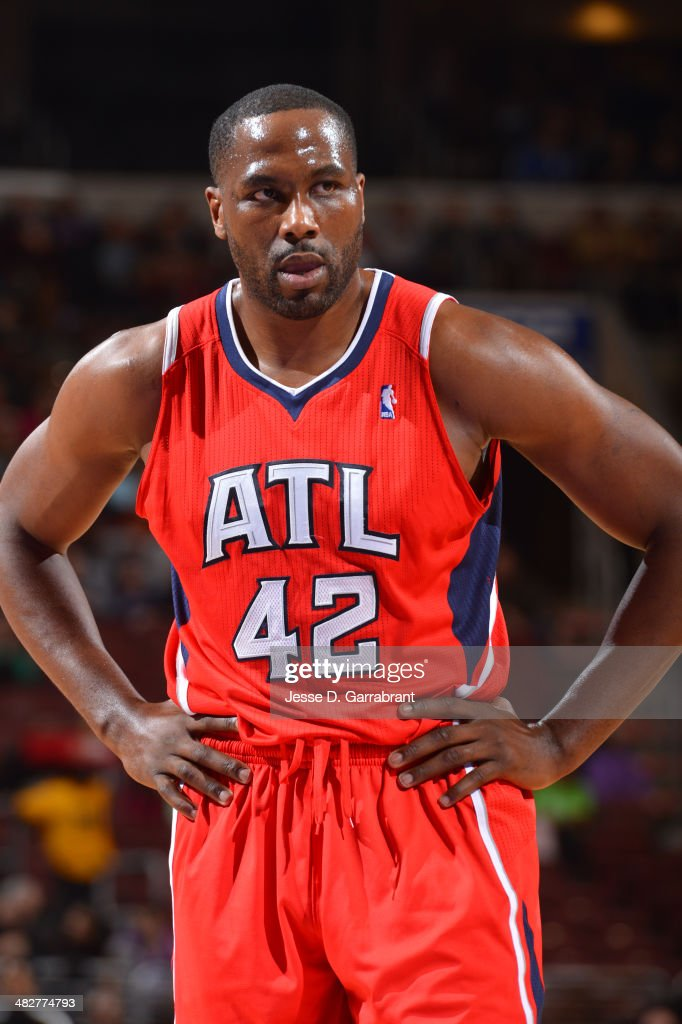 <a gi-track='captionPersonalityLinkClicked' href=/galleries/search?phrase=Elton+Brand&family=editorial&specificpeople=201501 ng-click='$event.stopPropagation()'>Elton Brand</a> #42 of the Atlanta Hawks looks on during the game against the Philadelphia 76ers at the Wells Fargo Center on January 31, 2014 in Philadelphia, Pennsylvania.