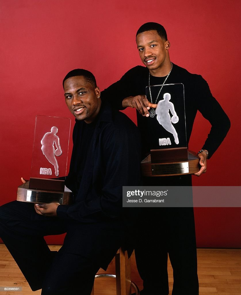 2000 Rookie of the Year Press Conference Steve Francis and Elton