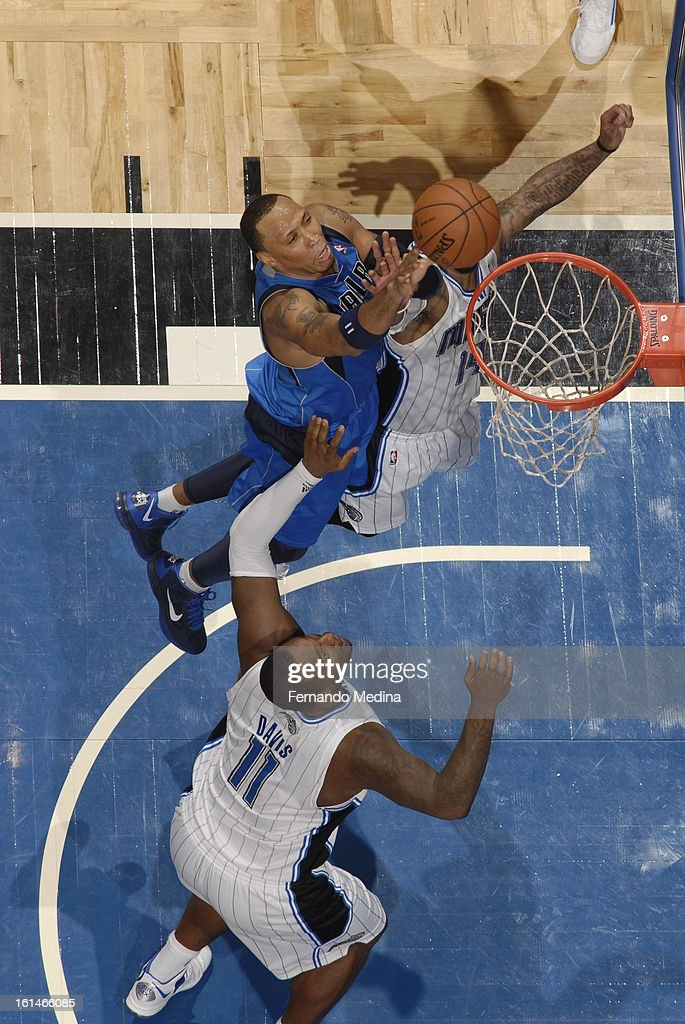 <a gi-track='captionPersonalityLinkClicked' href=/galleries/search?phrase=Elton+Brand&family=editorial&specificpeople=201501 ng-click='$event.stopPropagation()'>Elton Brand</a> #42 of the Dallas Mavericks goes up for the putback against the Orlando Magic during the game on January 20, 2013 at Amway Center in Orlando, Florida.