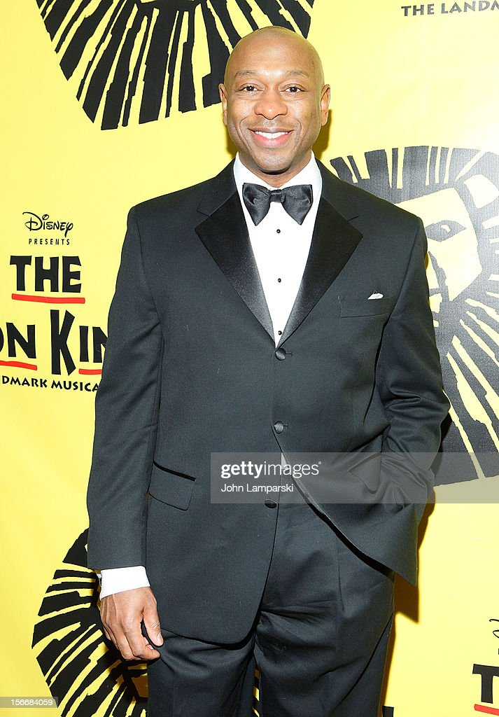 Elton Fitzgerald White attends the 'The Lion King' On Broadway 15th Anniversary Celebration at the Minskoff Theatre on November 18, 2012 in New York City.