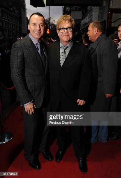 Elton John and David Furnish attend Billy Elliot The Musical Fifth Birthday on March 31 2010 in London England