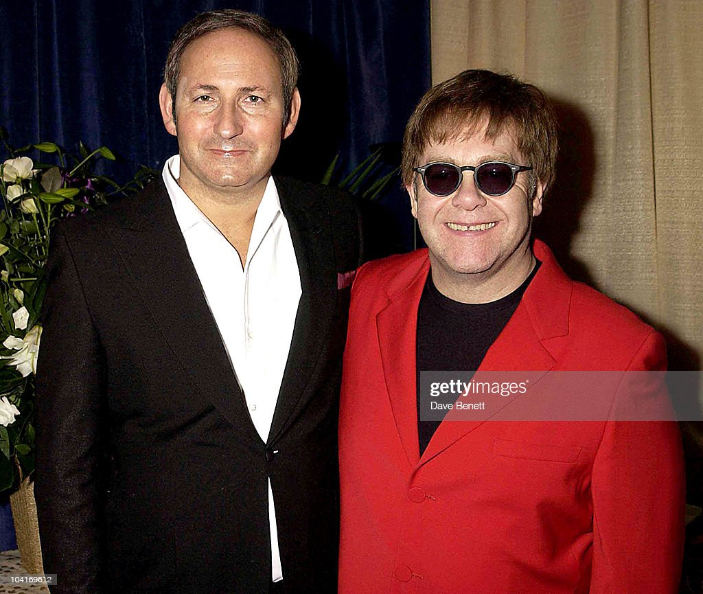 Elton John And John Dempsey The Chairman Of M.a.c, Sir Elton Johns Concert Presented By M.a.c Cosmetics At The Shepherd Bush Empire, London. In Aid Of Sir Elton Johns Aids Foundation And The M.a.c Aids Fund