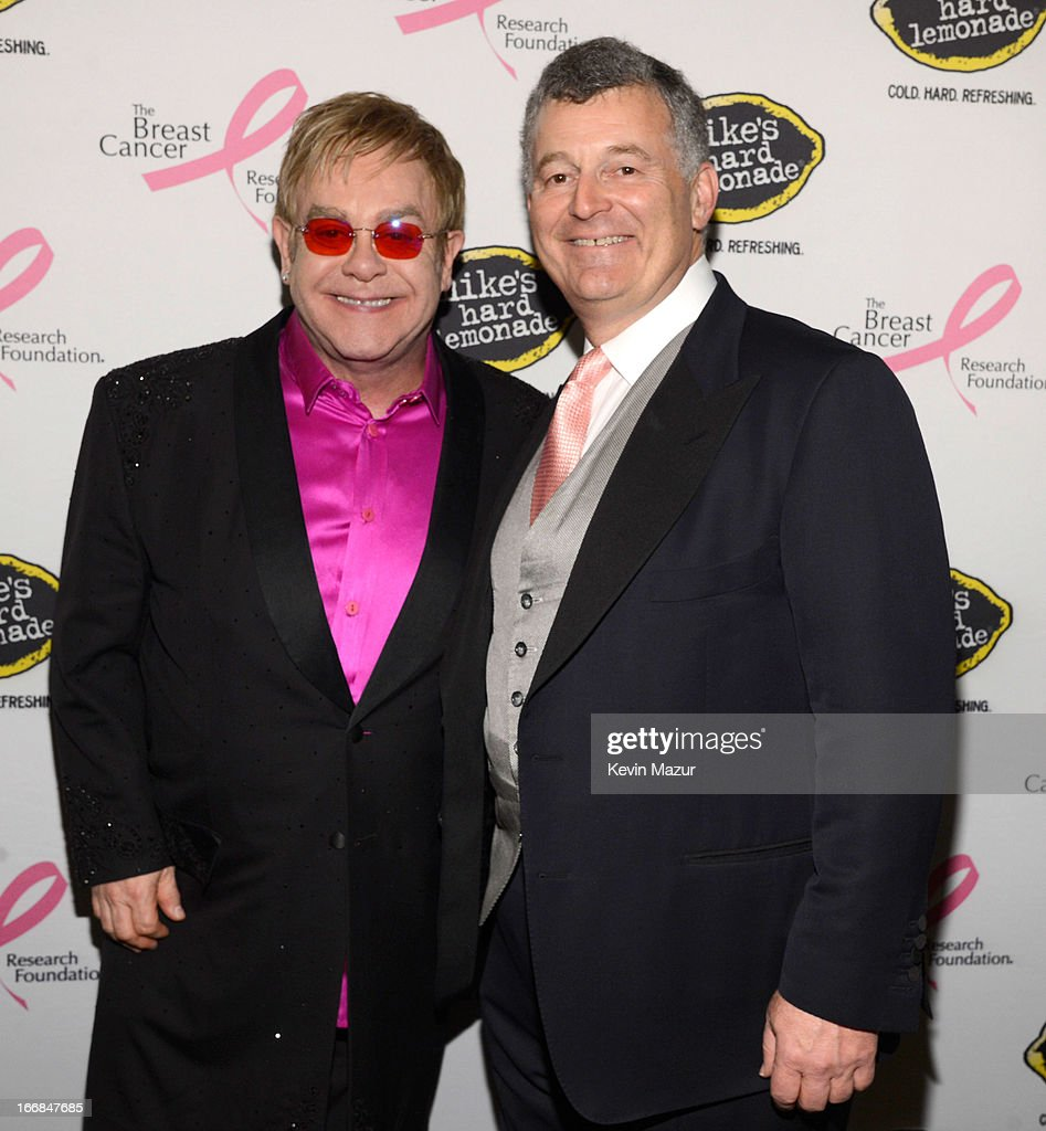 <a gi-track='captionPersonalityLinkClicked' href=/galleries/search?phrase=Elton+John&family=editorial&specificpeople=171369 ng-click='$event.stopPropagation()'>Elton John</a> and William P. Lauder attend the Breast Cancer Foundation's Hot Pink Party at the Waldorf Astoria Hotel on April 17, 2013 in New York City.