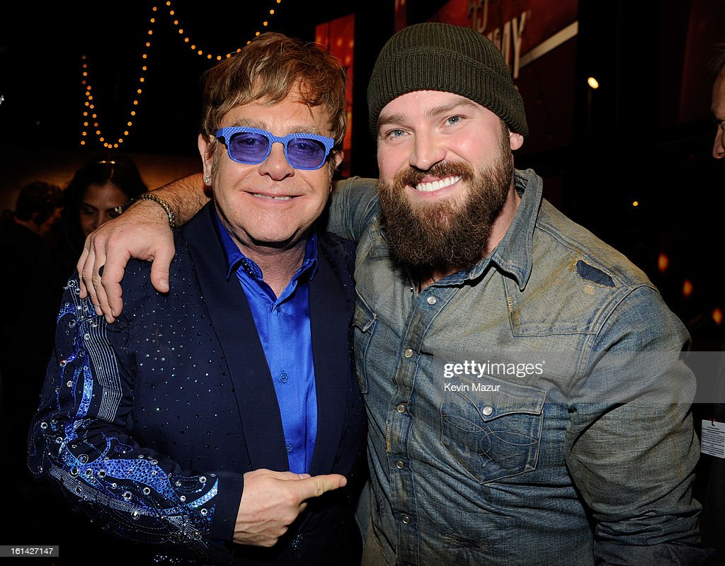 Elton John and Zac Brown attend the 55th Annual GRAMMY Awards at STAPLES Center on February 10, 2013 in Los Angeles, California.