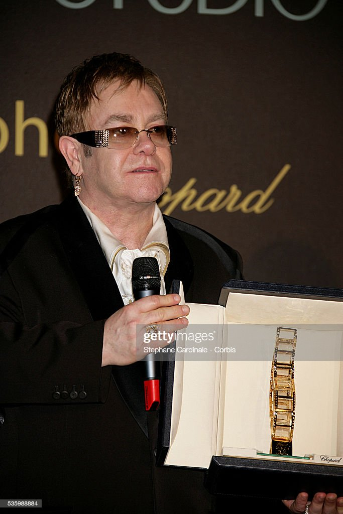 Elton John at the 'Chopard Party' during the 59th Cannes Film Festival.