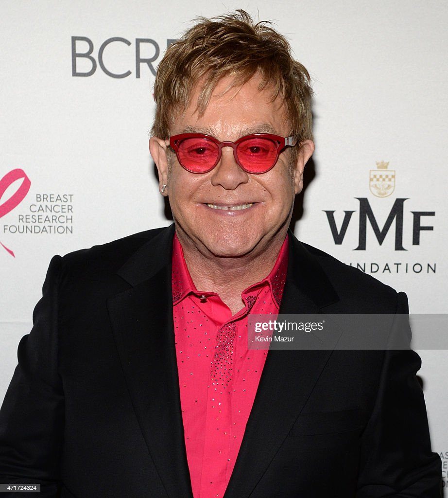 <a gi-track='captionPersonalityLinkClicked' href=/galleries/search?phrase=Elton+John&family=editorial&specificpeople=171369 ng-click='$event.stopPropagation()'>Elton John</a> attends Breast Cancer Research Foundation's Hot Pink Party: The Pink Standard at Waldorf Astoria Hotel on April 30, 2015 in New York City.