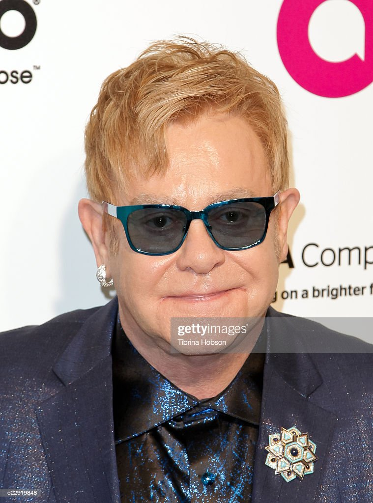 Elton John attends the 24th annual Elton John AIDS Foundation's Oscar Party on February 28 2016 in West Hollywood California