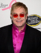 Elton John attends the Breast Cancer Foundation's Hot Pink Party at the Waldorf Astoria Hotel on April 17 2013 in New York City