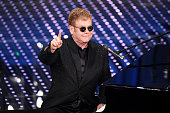 Elton John attends the opening night of the 66th Festival di Sanremo 2016 at Teatro Ariston on February 9 2016 in Sanremo Italy