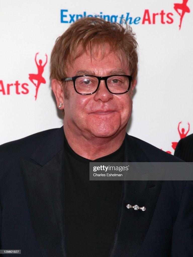 Elton John attends the Tony Bennett 85th birthday gala at The Metropolitan Opera House on September 18, 2011 in New York City.