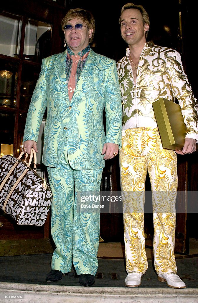 Elton John & David Furnish, Elton John Celebrates His 54th Birthday A Week Early, At His Party At The Ritz, London