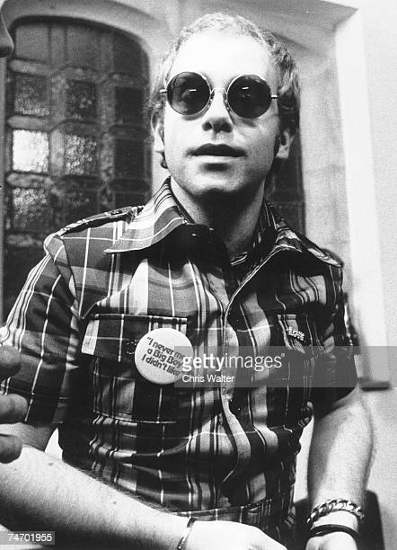 Elton John during Elton John File Photos in London United Kingdom