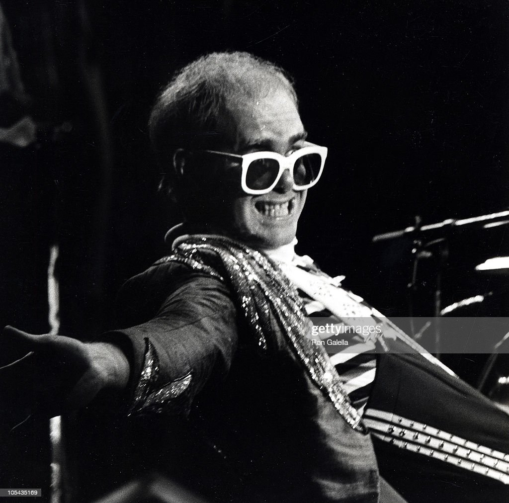 Elton John during Elton John In Concert - August 10, 1976 at Madison Square Garden in New York City, New York, United States.