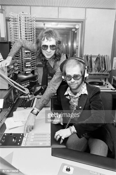Elton John makes a whistlestop visit to Birmingham and spends an hour as a disc jockey at BRMB radio studios He joins regular DJ Adrian Juste...