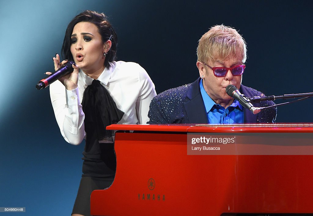 """Elton John performed songs from his new album Wonderful Crazy Night out February 5, as well as classic hits, on January 13th at the Wiltern in Los Angeles. Surprise duets included """"Don't Go Breaking My Heart"""" with Demi Lovato, """"Tiny Dancer"""" with Shawn Mendes, and """"Saturday"""" with Patrick Stump of Fall Out Boy."""