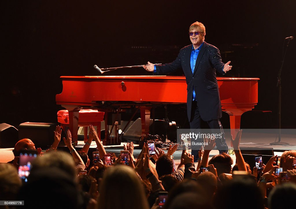 "<a gi-track='captionPersonalityLinkClicked' href=/galleries/search?phrase=Elton+John&family=editorial&specificpeople=171369 ng-click='$event.stopPropagation()'>Elton John</a> performed songs from his new album Wonderful Crazy Night out February 5, as well as classic hits, on January 13th at the Wiltern in Los Angeles. Surprise duets included ""Don't Go Breaking My Heart"" with Demi Lovato, ""Tiny Dancer"" with Shawn Mendes, and ""Saturday"" with Patrick Stump of Fall Out Boy."
