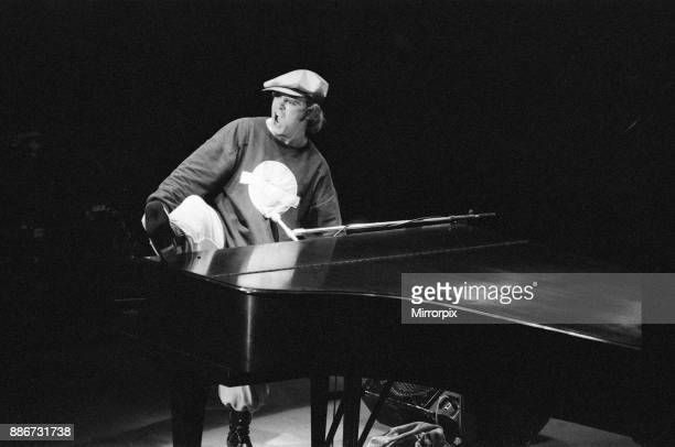 Elton John performing in concert at the Theatre des ChampsElysees Paris 21st February 1979
