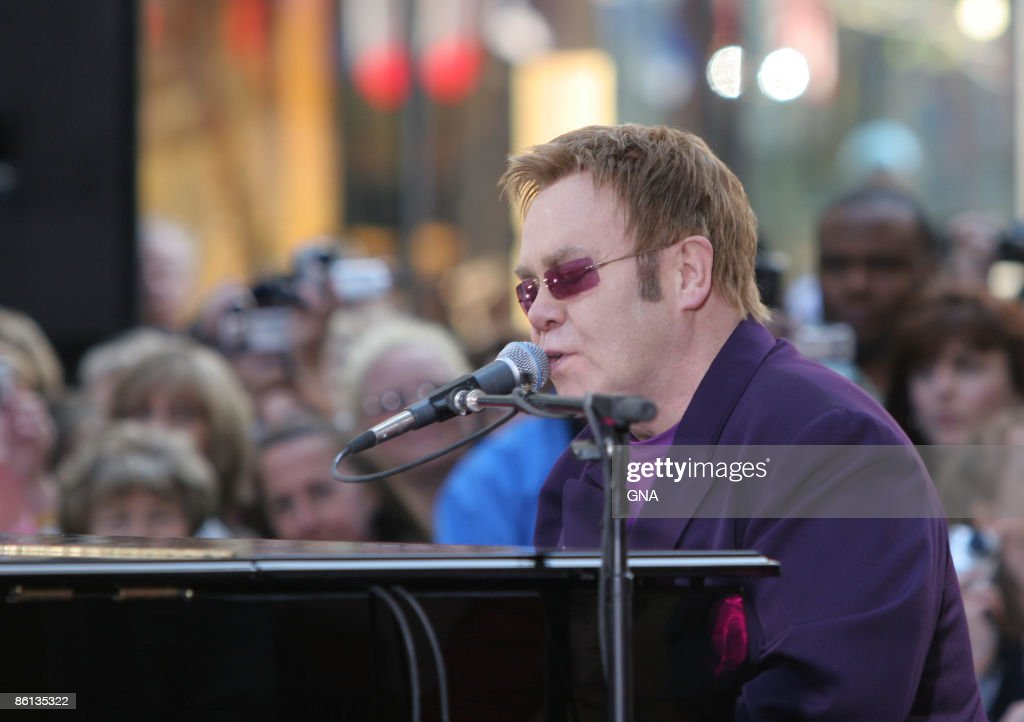 Elton John performs for 'The Today Show' in New York City on April 25, 2006. Photos by Gna