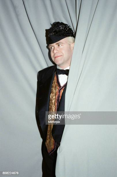 Elton John pictured in Paris where he is performing during his Reg Strikes Back Tour 23rd March 1989