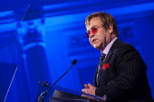 Elton John speaks after receiving the Lifetime Achievement Award during The Rockfeller Foundation 2013 'Celebration of American Philanthropy' Event...