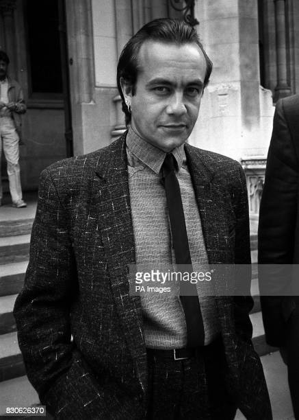 Elton John's songwriting partner Bernie Taupin in London for the High Court hearing in which he and the singer are suing music publisher Dick James...