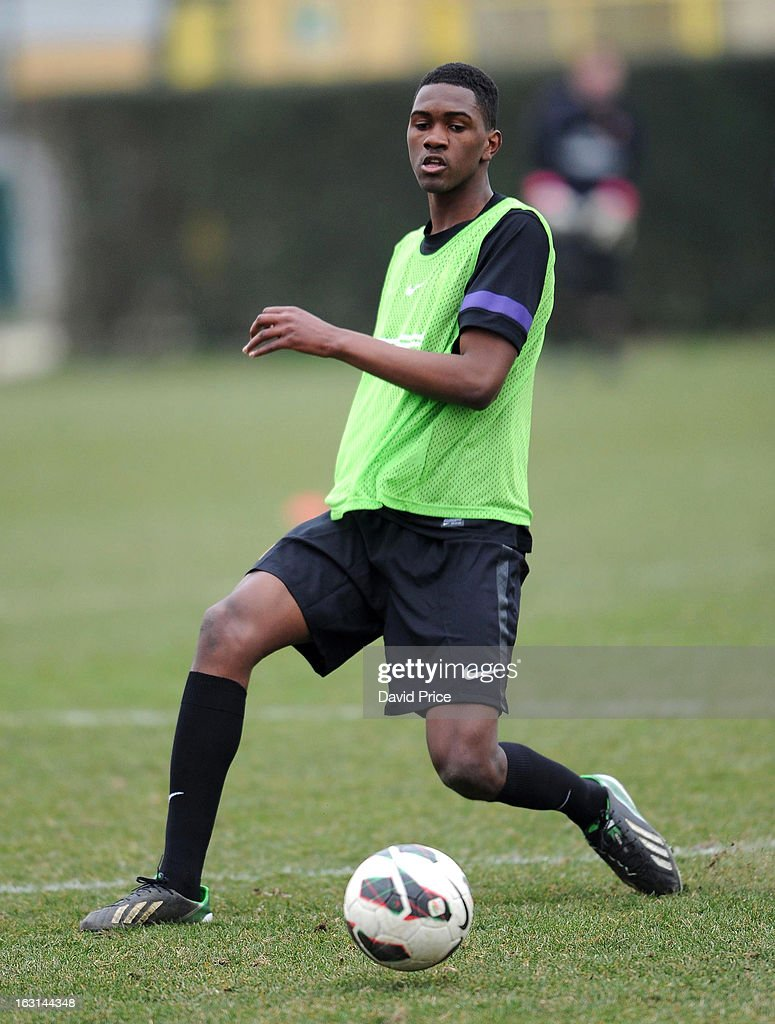 Elton Monteiro of Arsenal in action during a training session prior to the NextGen Series match between Inter Milan and Arsenal at Inter Milan Training Ground, Centro Sportivo Facchetti Facchetti on March 05, 2013 in Milan, Italy.