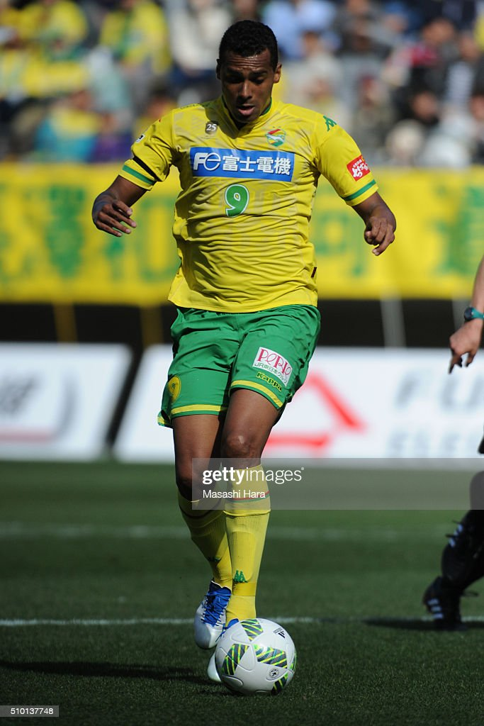 Elton of JEF United Chiba in action during the preseason friendly match between JEF United Chiba and Kashiwa Reysol at the Fukuda Denshi Arena on February 14, 2016 in Chiba, Japan.