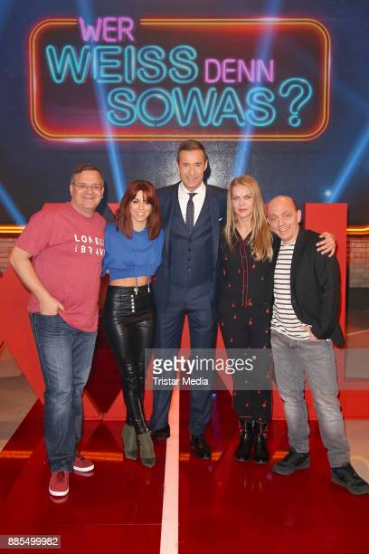 Elton Vanessa Mai Kai Pflaume Anna Loos and Bernhard Hoecker during the Photo Call to the TV Show 'Wer weiss denn sowas XXL' on December 2 2017 in...