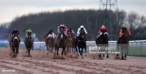 Elusive Hawk ridden by Chris Catlin wins The Compare Bookmakers At bookmakerscouk Selling Stakes at Southwell Racecourse NewarkonTrent Nottinghamshire