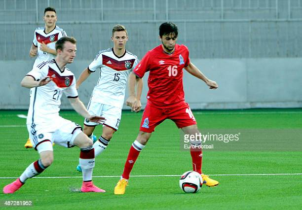 Elvin Jamalov of Azerbaijan in action during the 2017 UEFA European U21 Championships Qualifier at Dalga Stadium on September 8 2015 in Baku...