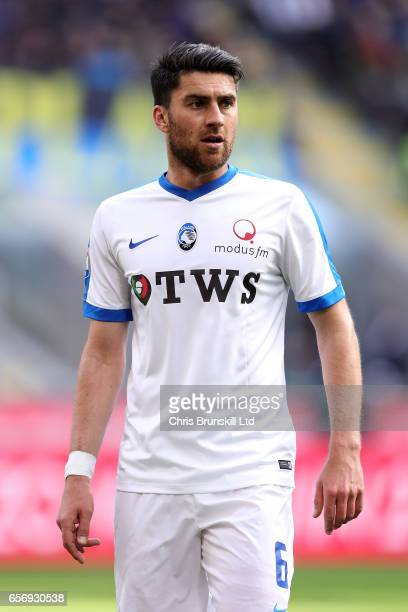 Elvin Zukanovic of Atalanta BC looks on during the Serie A match between FC Internazionale and Atalanta BC at Stadio Giuseppe Meazza on March 12 2017...