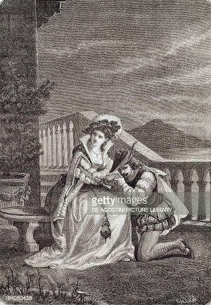 Elvira and Ettore Fieramosca Ettore Fieramosca or The Challenge of Barletta by Massimo d'Azeglio 1833 Engraving