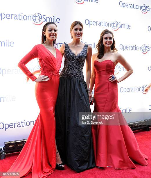 Elvira Devinamira Gabriela Isler and Erin Brady attend Operation Smile's Smile Event at Cipriani Wall Street on May 1 2014 in New York City
