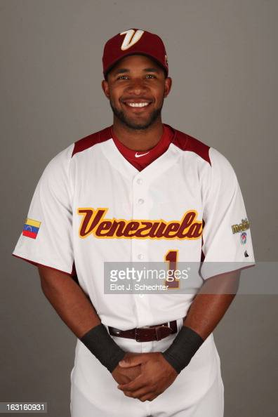 Elvis Andrus of Team Venezuela poses for a headshot for the 2013 World Baseball Classic at Roger Dean Stadium on Monday March 4 2013 in Jupiter...
