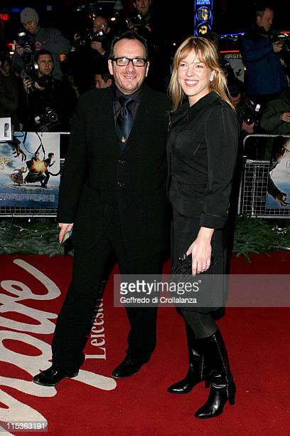 Elvis Costello and Diana Krall during 'Lemony Snicket's A Series Of Unfortunate Events' London Premiere at Empire Leicester Square in London United...